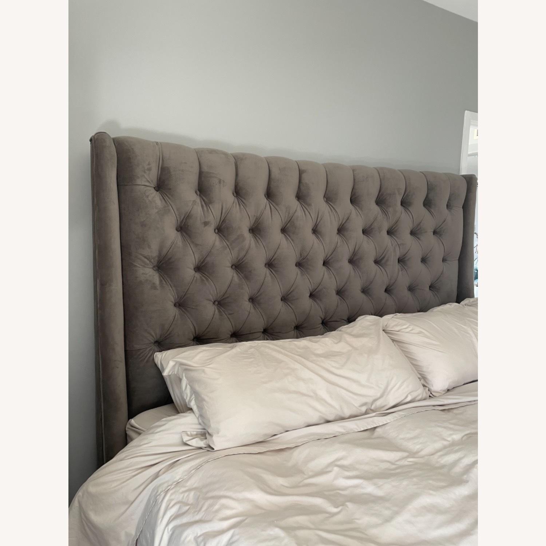 Arhaus King Tufted Nailhead Bed - image-6