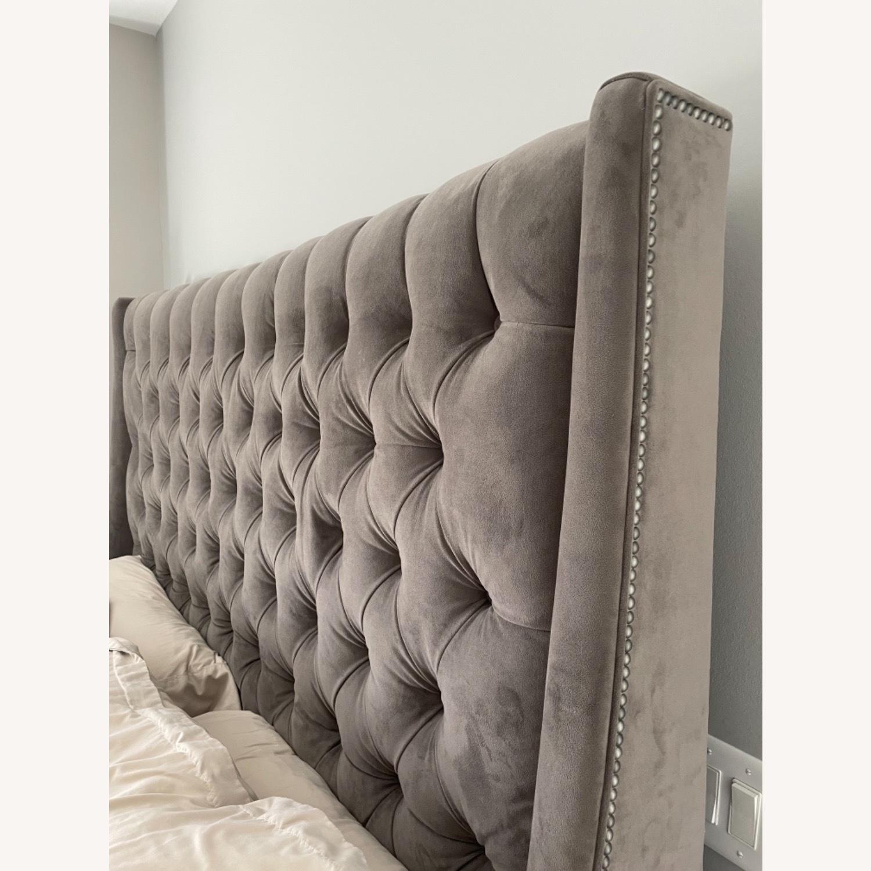 Arhaus King Tufted Nailhead Bed - image-3