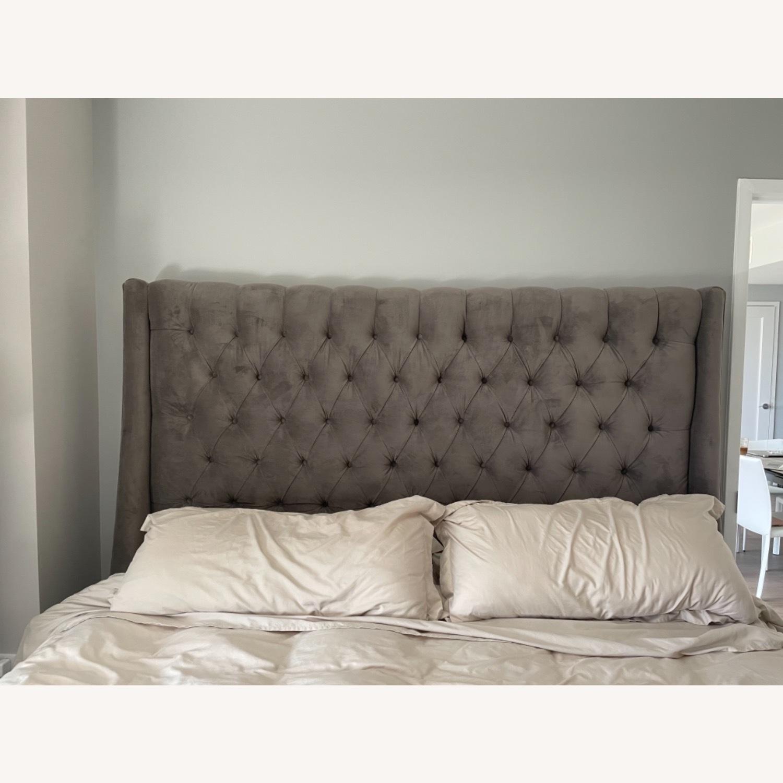 Arhaus King Tufted Nailhead Bed - image-7