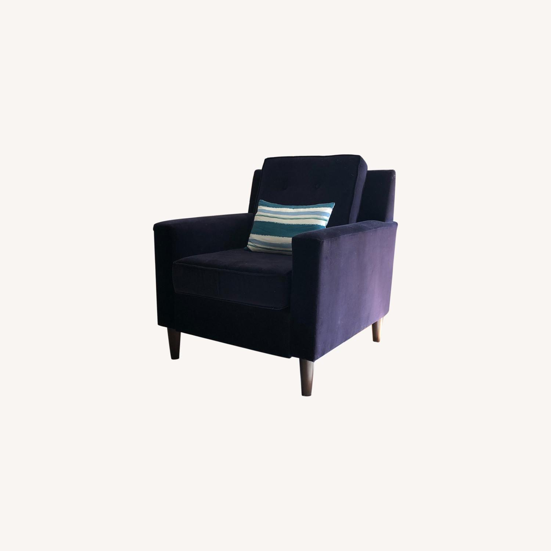 One Kings Lane Navy Club Chair - image-0