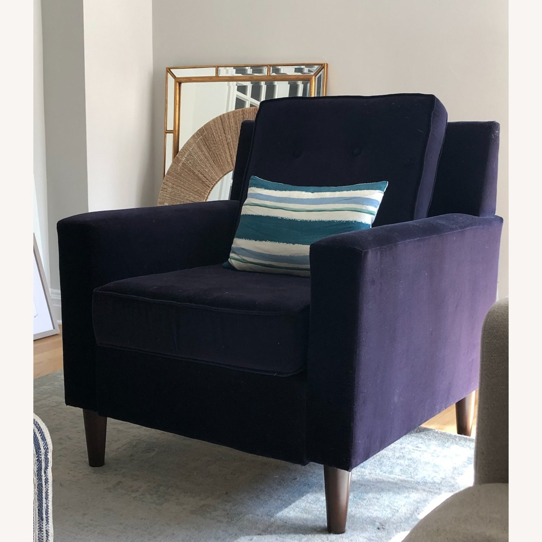 One Kings Lane Navy Club Chair - image-1