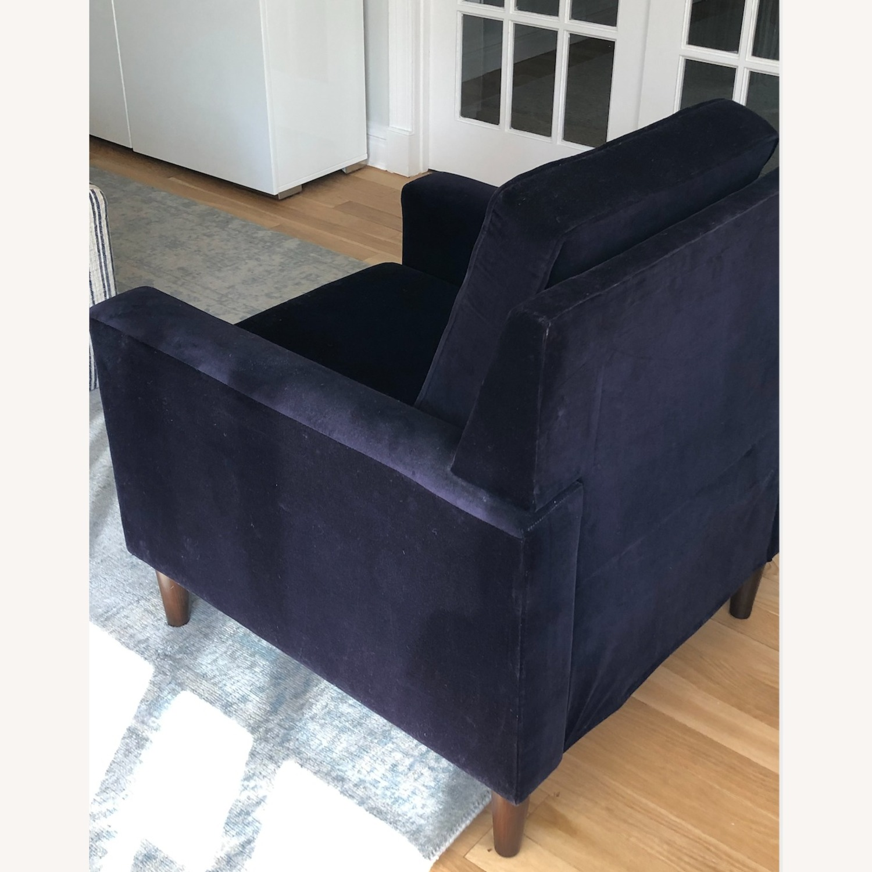 One Kings Lane Navy Club Chair - image-3