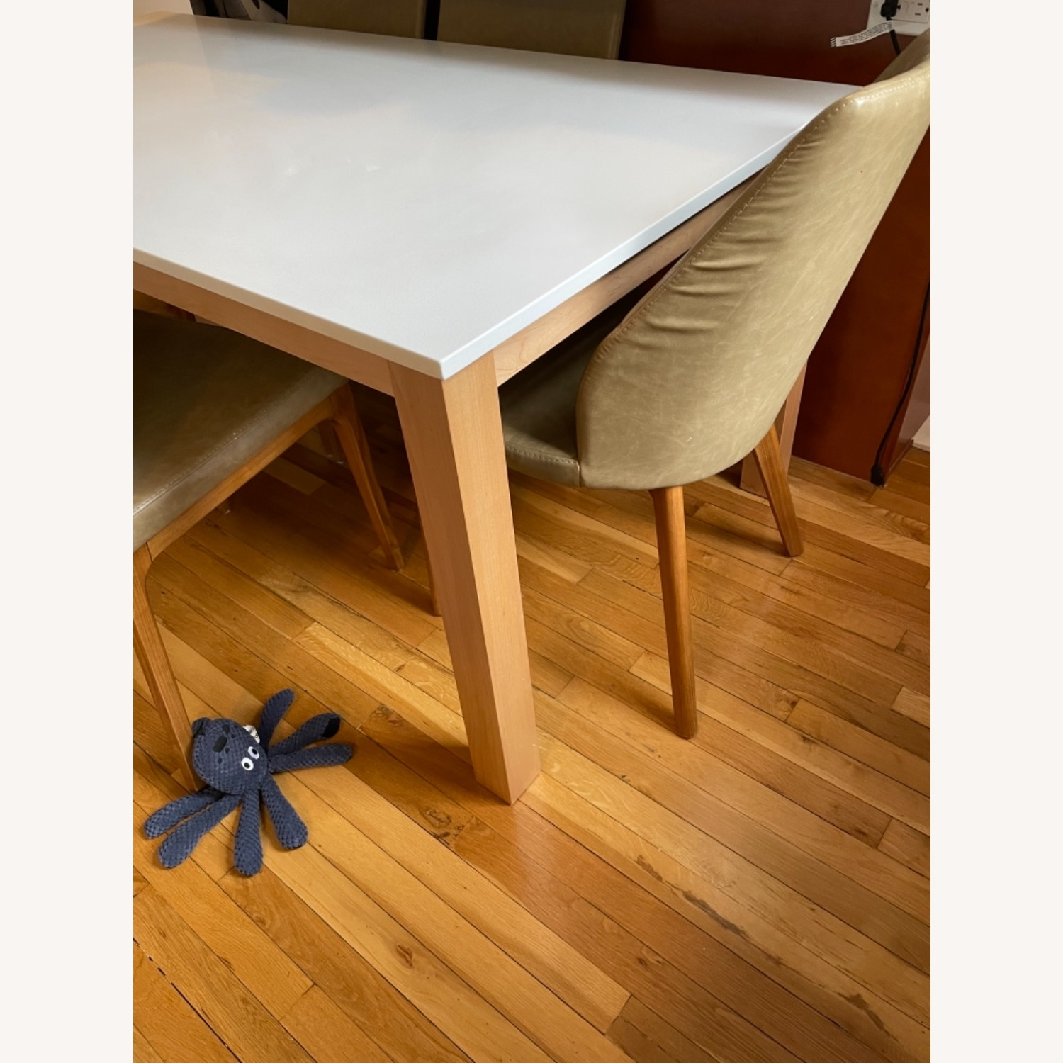 Room & Board White Quartz Top Linden Dining Table - image-4