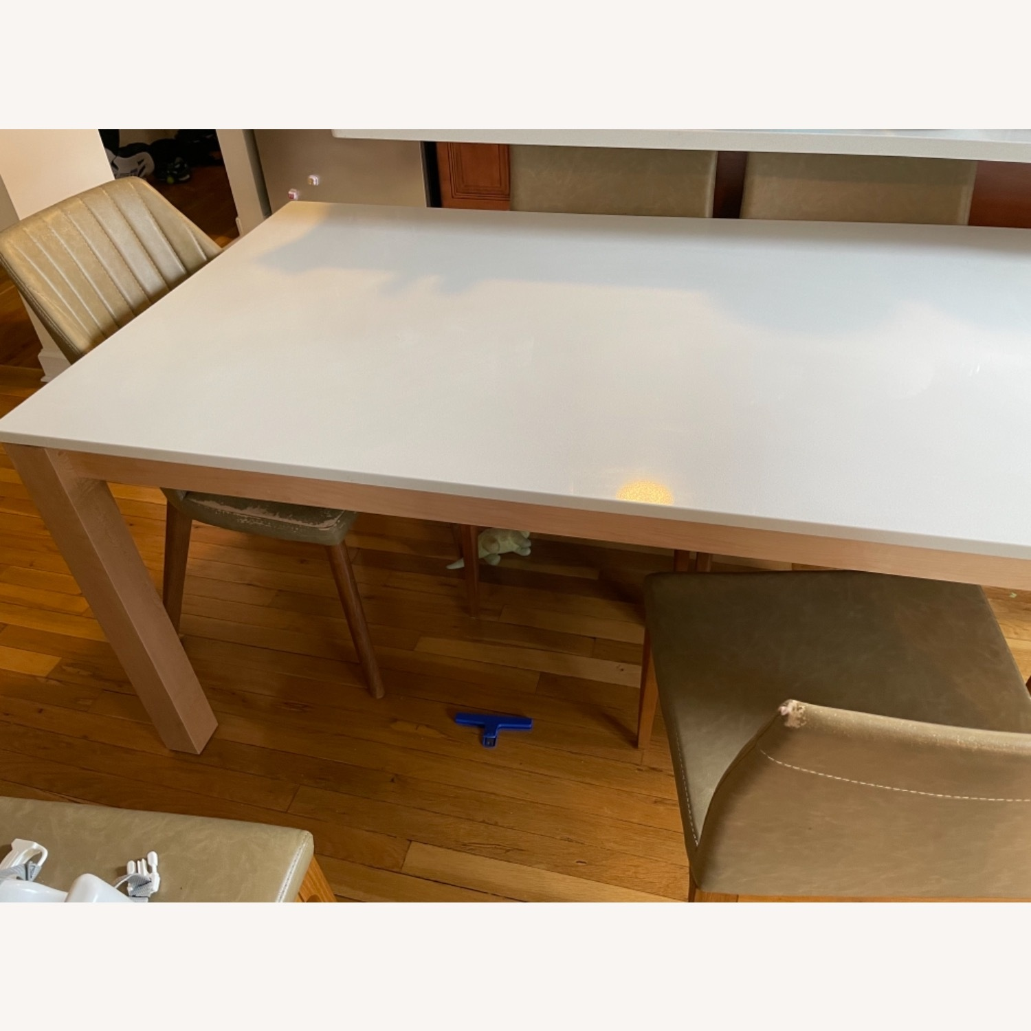 Room & Board White Quartz Top Linden Dining Table - image-1