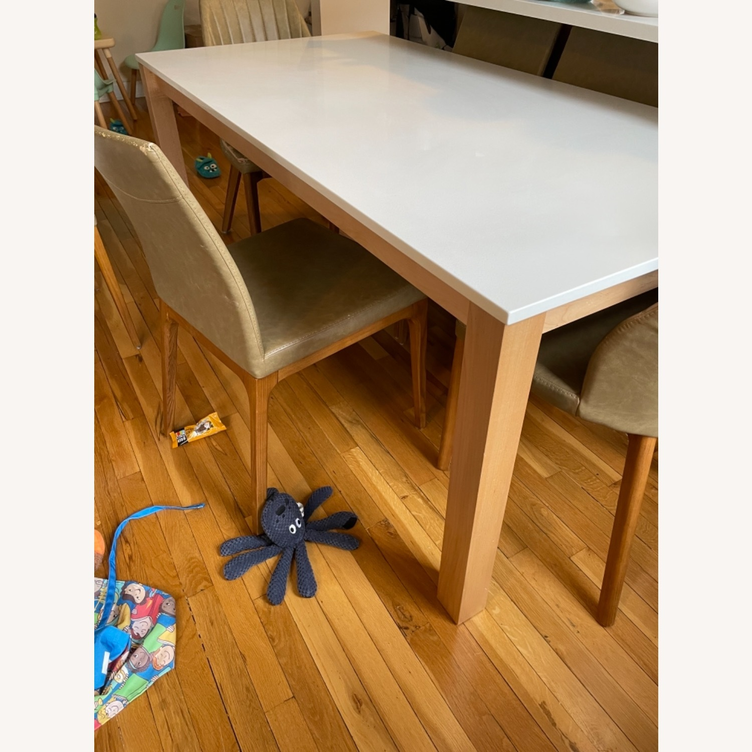 Room & Board White Quartz Top Linden Dining Table - image-3