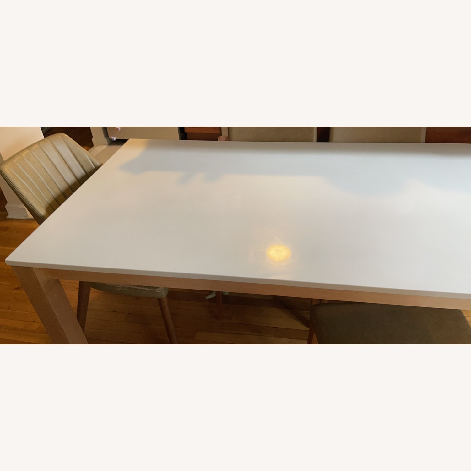 Room & Board White Quartz Top Linden Dining Table - image-5