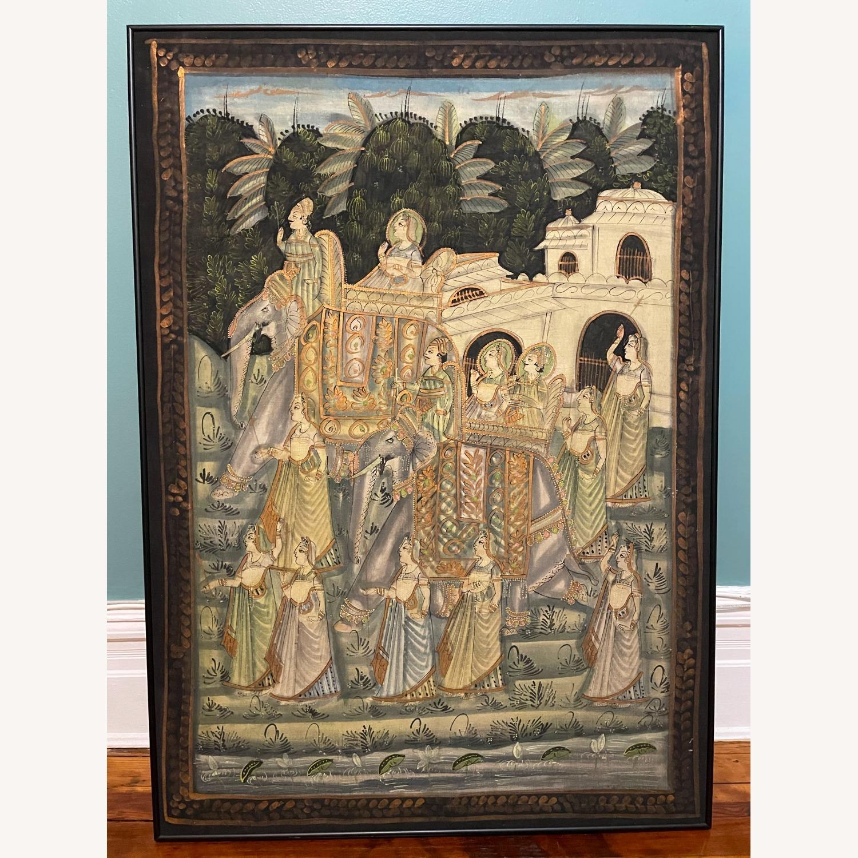 Vintage Indian Hindu Processional Folk Art - image-1