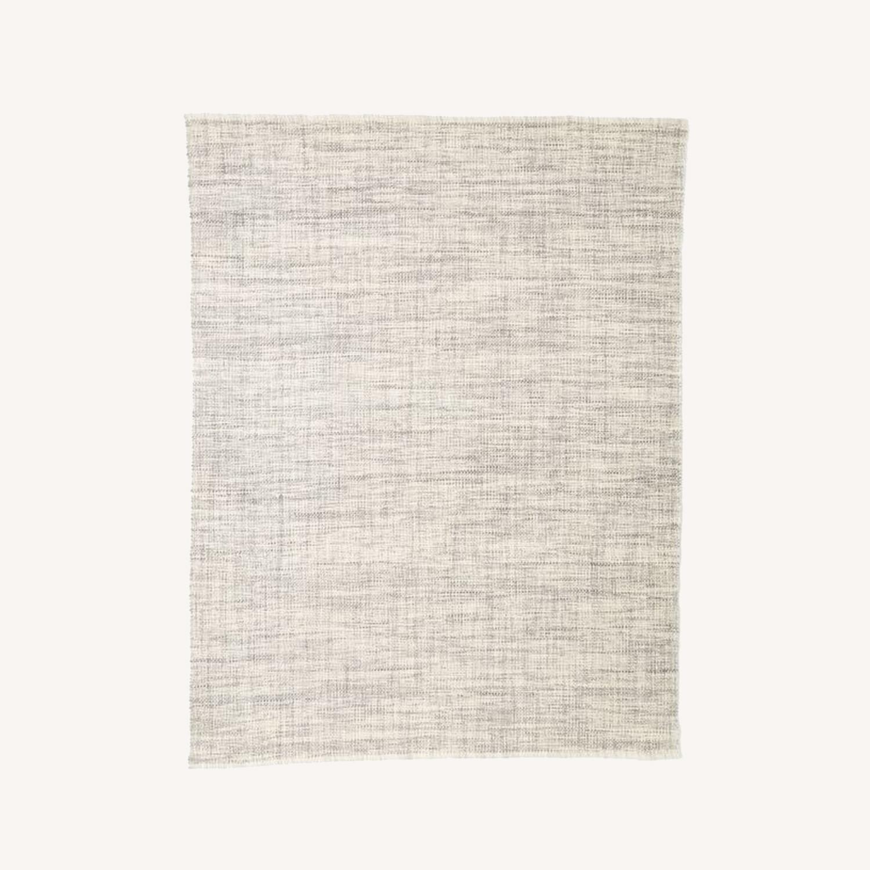 West Elm Heathered Basketweave Wool Rug, 3'x5' - image-0