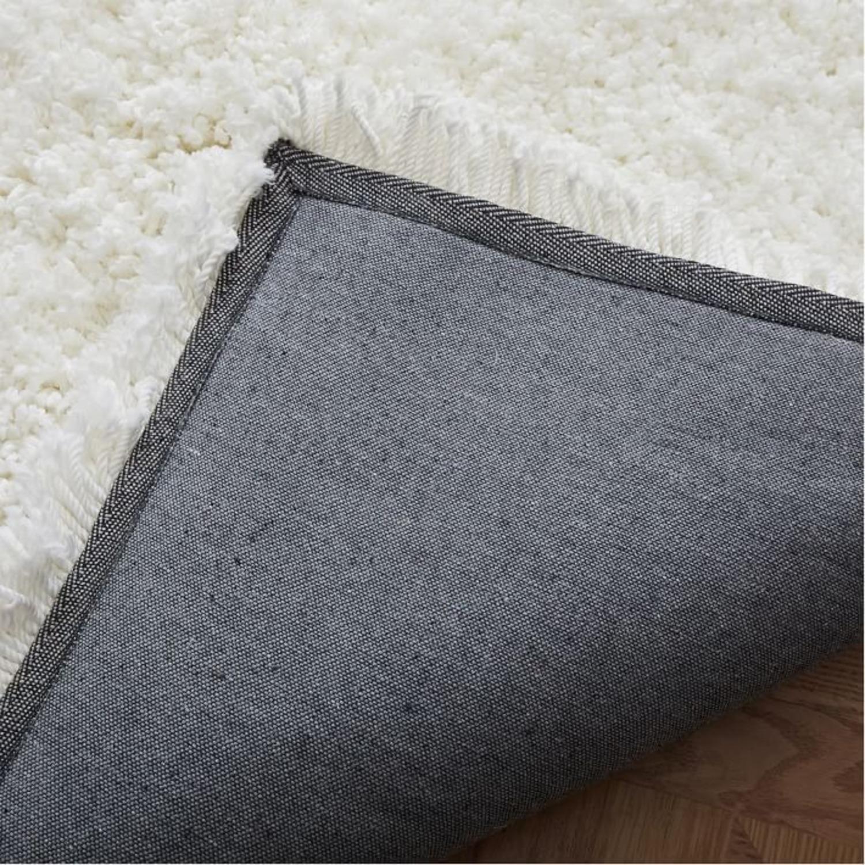 West Elm Cozy Plush Rug, White, 6'x9' - image-1