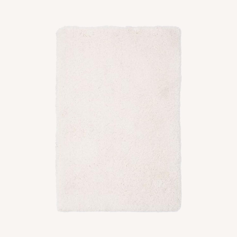 West Elm Cozy Plush Rug, White, 6'x9' - image-0