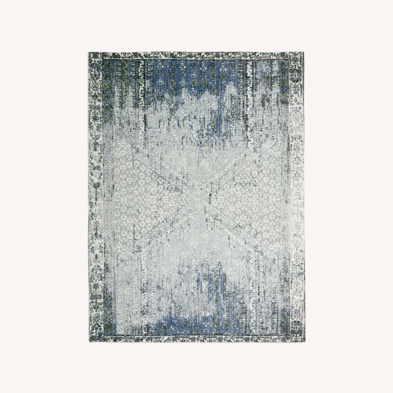 West Elm Distressed Ensi Rug, Blue Stone, 5'x8' - image-0