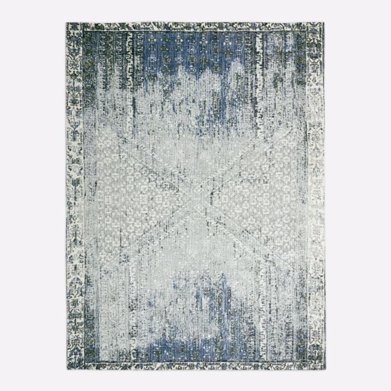 West Elm Distressed Ensi Rug, Blue Stone, 5'x8' - image-2