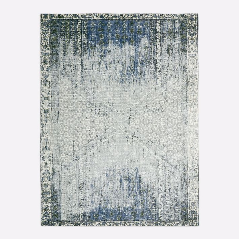 West Elm Distressed Ensi Rug, Blue Stone, 5'x8' - image-1