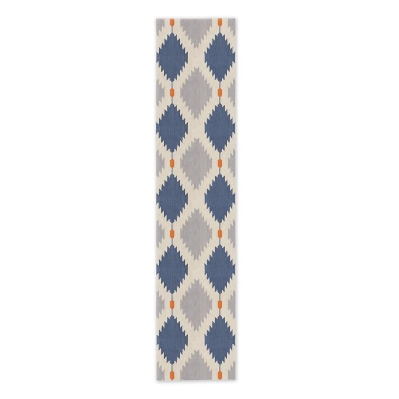 West Elm Phoenix Wool Dhurrie Rug, 2.5'x7' - image-1