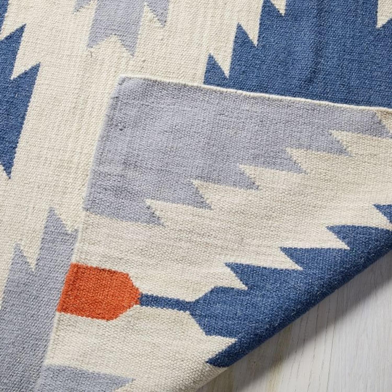 West Elm Phoenix Wool Dhurrie Rug, 2.5'x7' - image-2