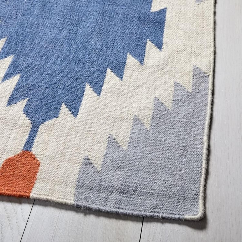West Elm Phoenix Wool Dhurrie Rug, 2.5'x7' - image-3