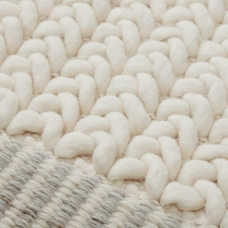 West Elm Chunky Twist Wool Rug, 6'x9', Alabaster - image-1