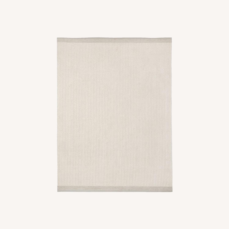West Elm Chunky Twist Wool Rug, 6'x9', Alabaster - image-0