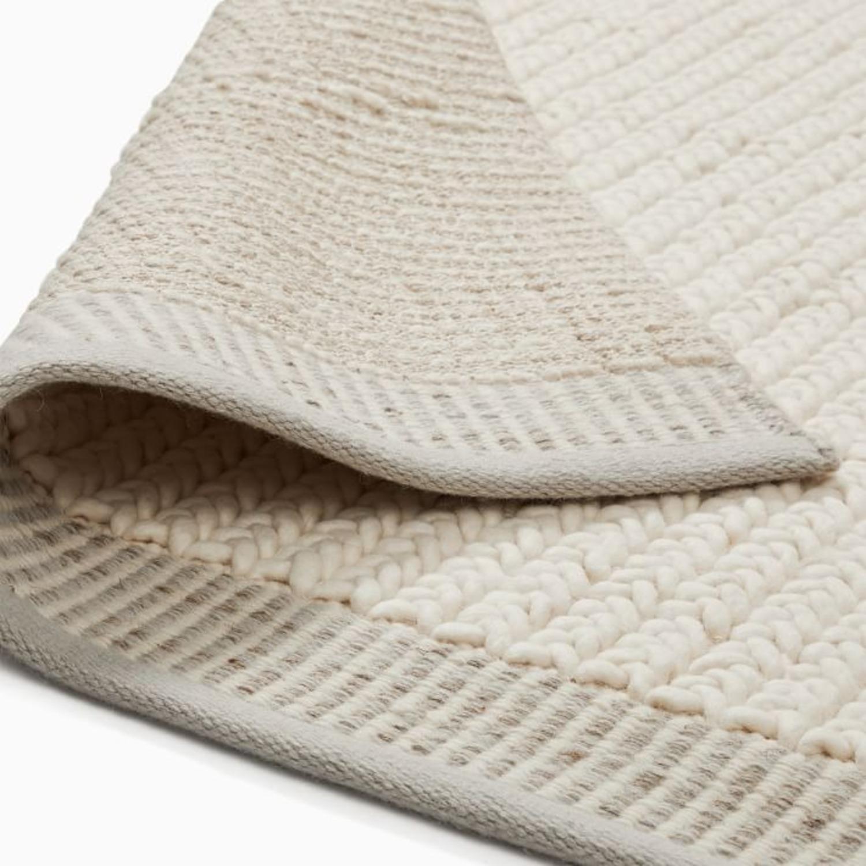 West Elm Chunky Twist Wool Rug, 6'x9', Alabaster - image-2