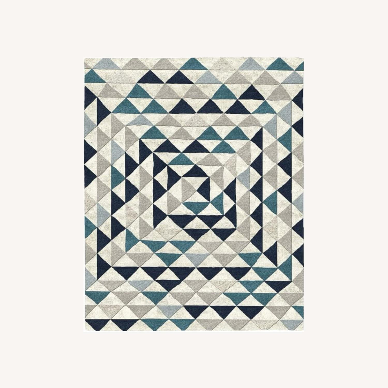 West Elm Framed Triangles Wool Rug, 5'x8' - image-0