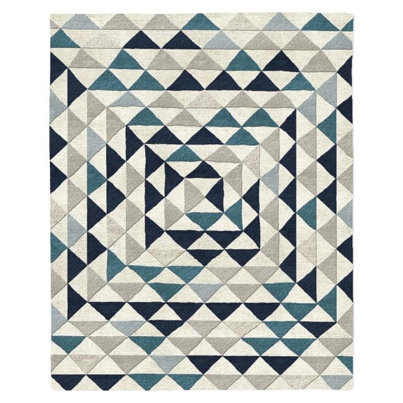 West Elm Framed Triangles Wool Rug, 5'x8' - image-1