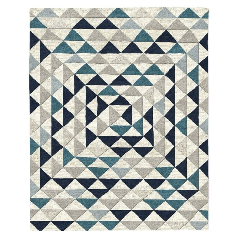 West Elm Framed Triangles Wool Rug, 5'x8' - image-3