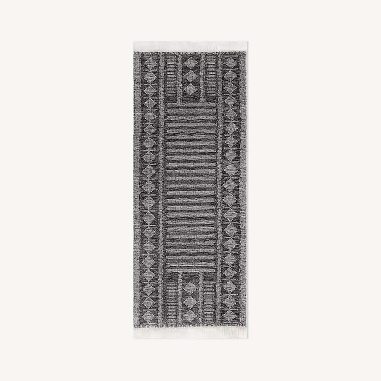 West Elm Diamond Brim Indoor/Outdoor Rug, 2.5'x7' - image-0