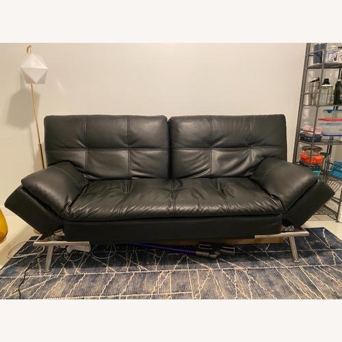 Used Euro Lounger Leather Futon for sale on AptDeco