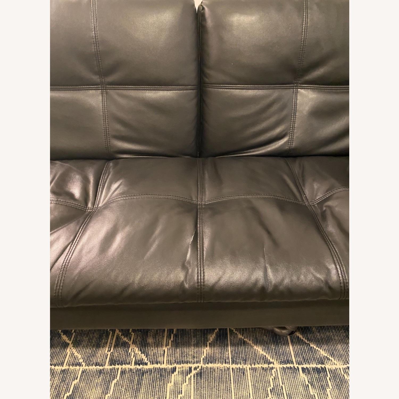 Euro Lounger Leather Futon - image-3