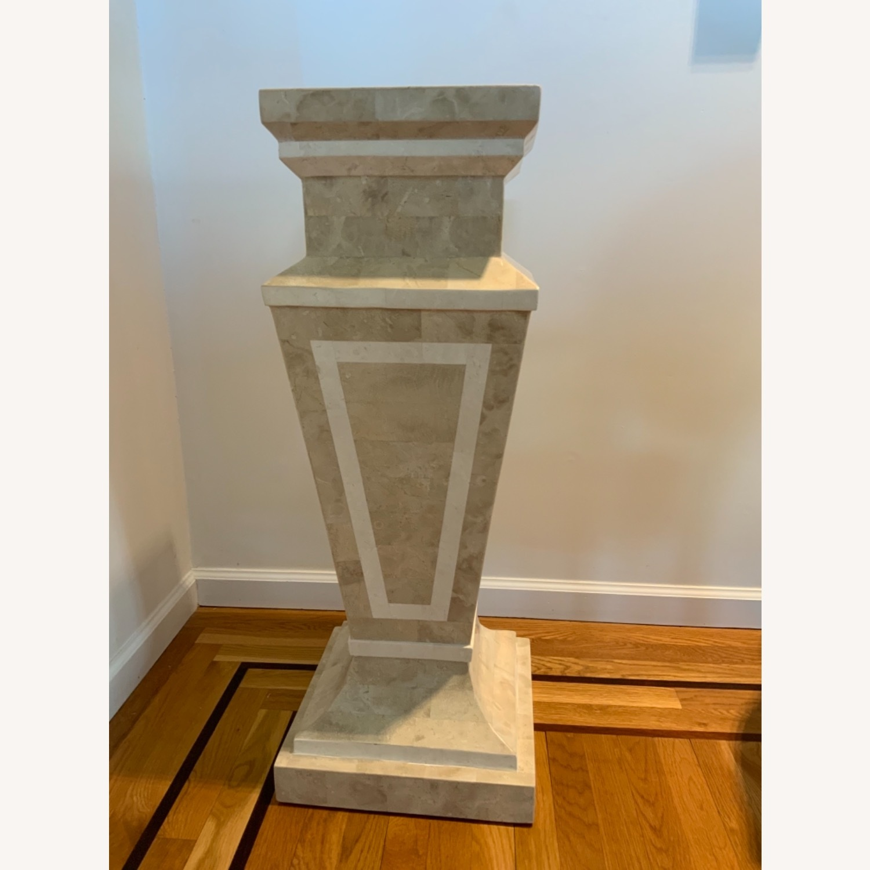 Tessellated Stone Column Pedestal - image-1