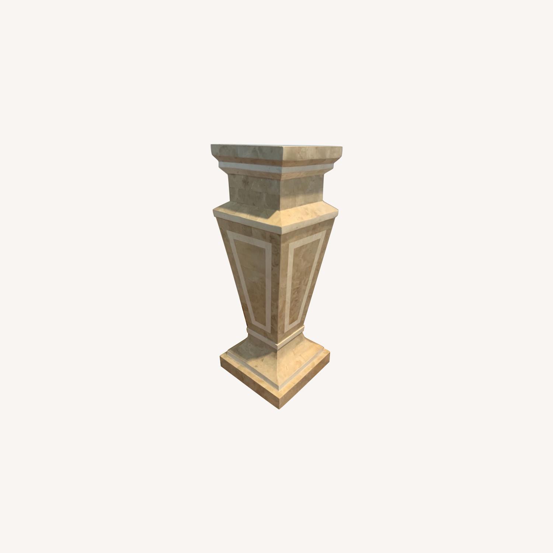 Tessellated Stone Column Pedestal - image-0