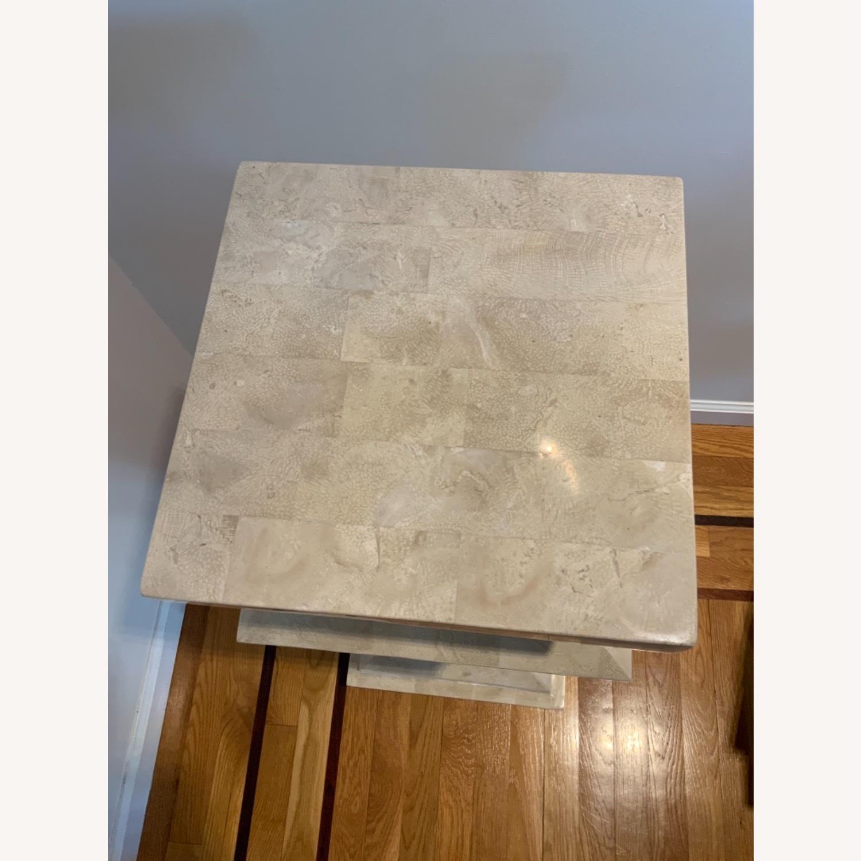Tessellated Stone Column Pedestal - image-3