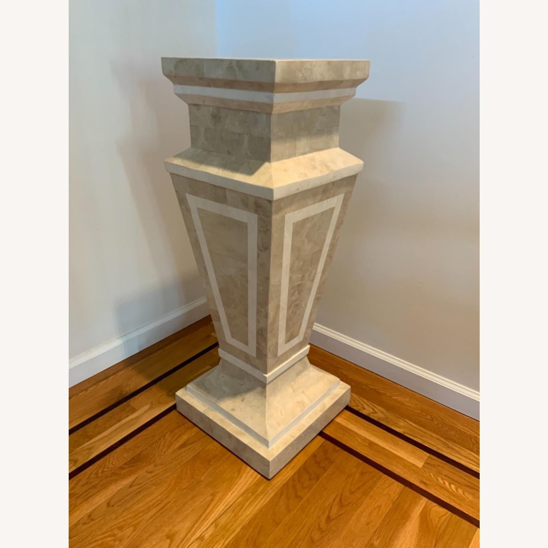Tessellated Stone Column Pedestal - image-2