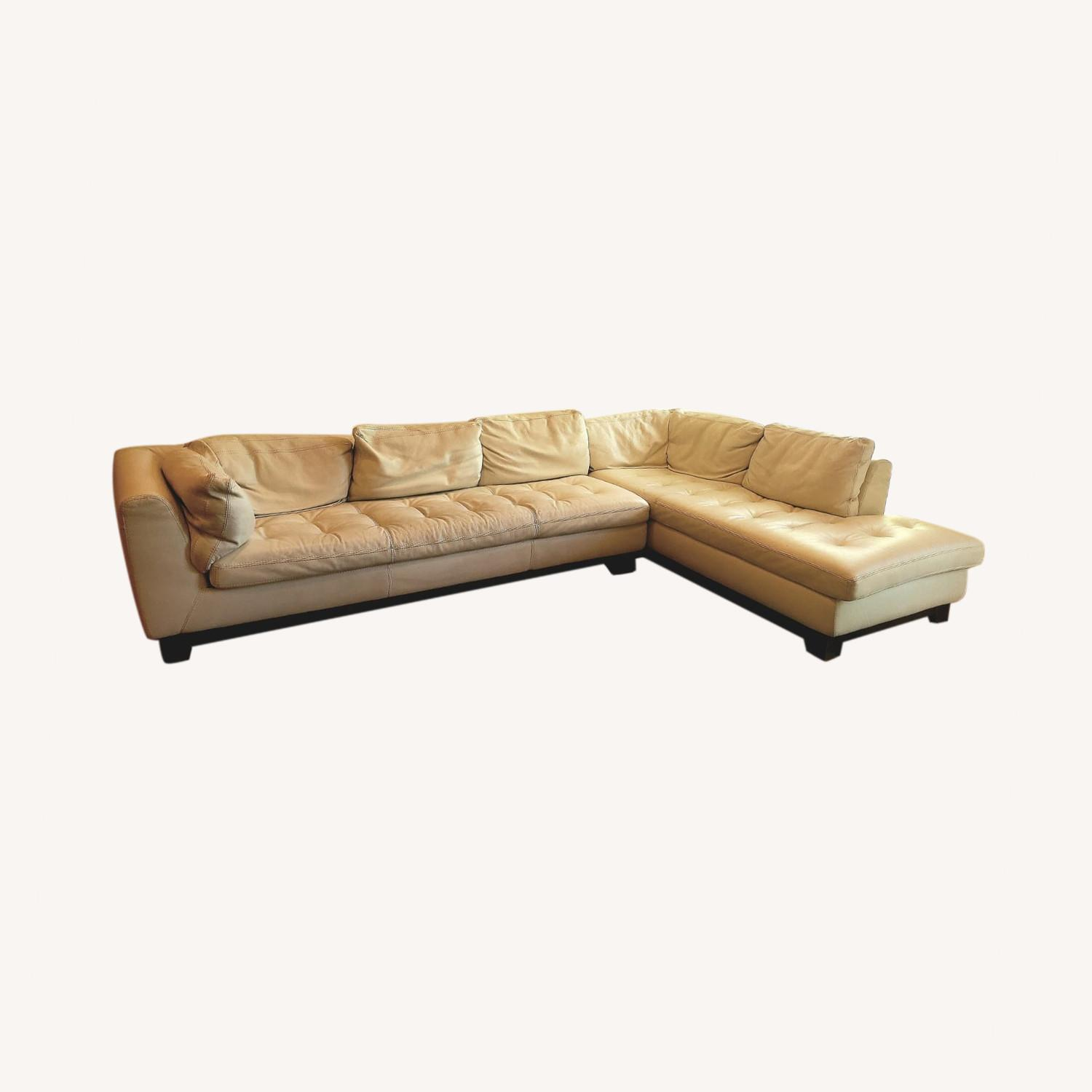 Roche Bobois Leather Sectional Sofa - image-0