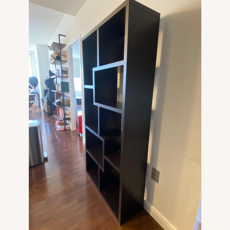 Wayfair Geometric Dark Walnut Bookcase - image-2