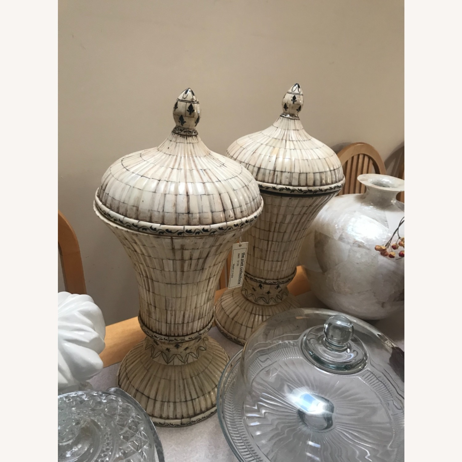 2 Large Urns with Lids - Mosaic Tiles - image-7