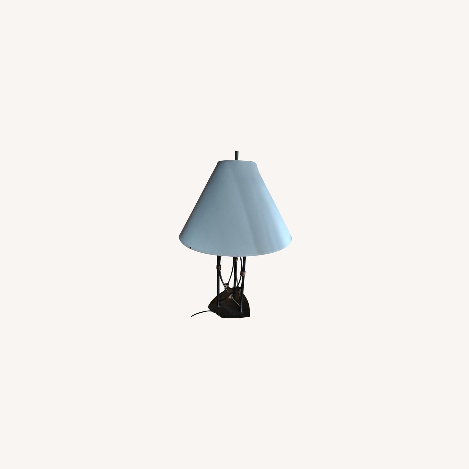 Table Lamp with a Metal Base and Bady - image-0