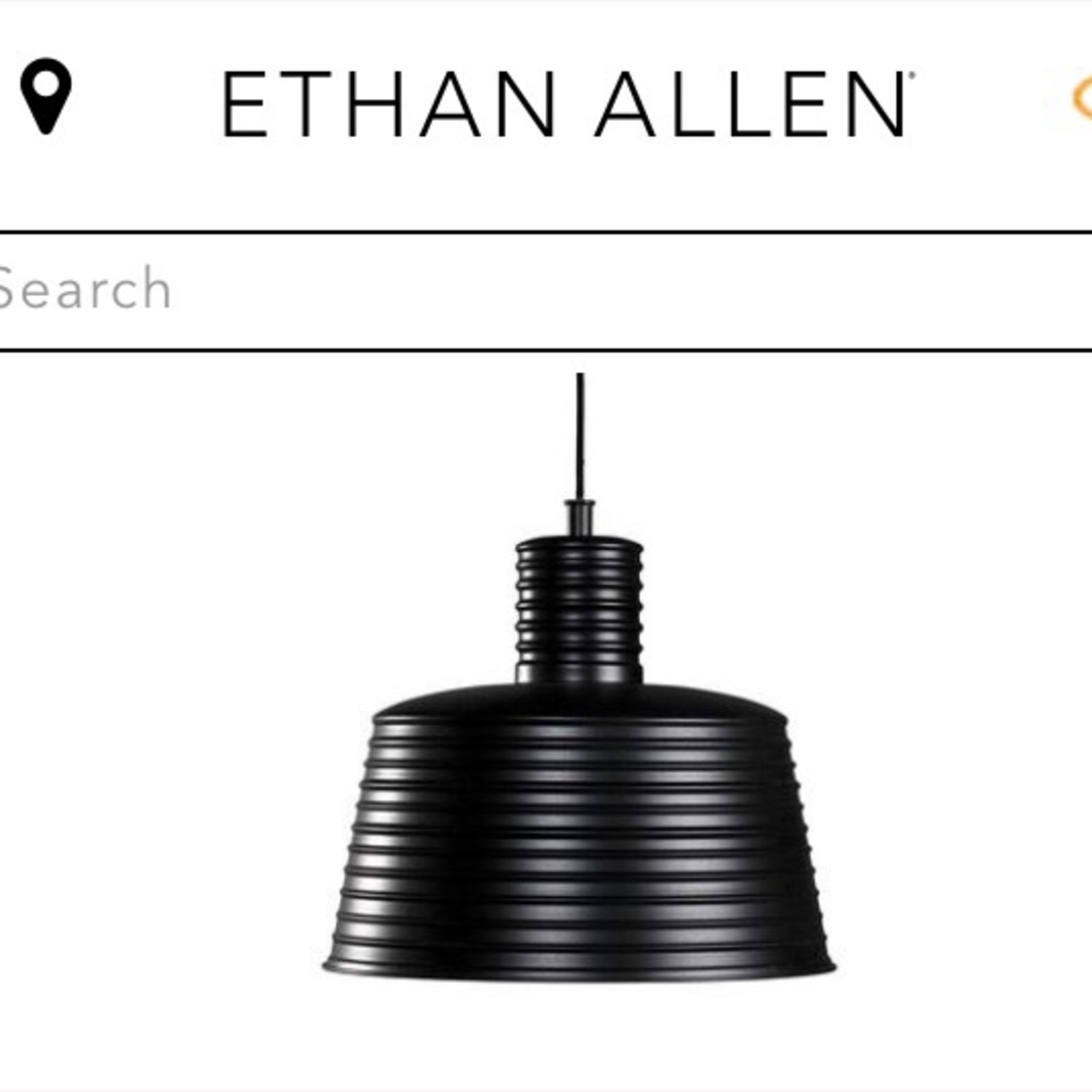 Ethan Allen Black and White Industrial Pendant - image-2