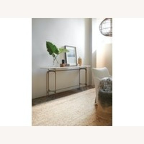 Used Living Room Skinny Metal Console Base for sale on AptDeco