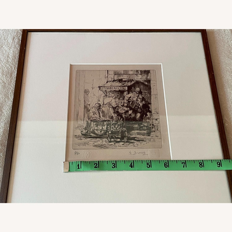 Auguste Brouet La Poissonnerie 1925 Etching - image-5