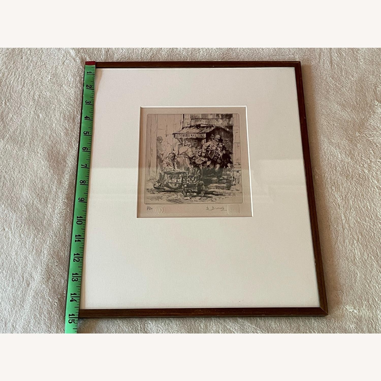 Auguste Brouet La Poissonnerie 1925 Etching - image-3
