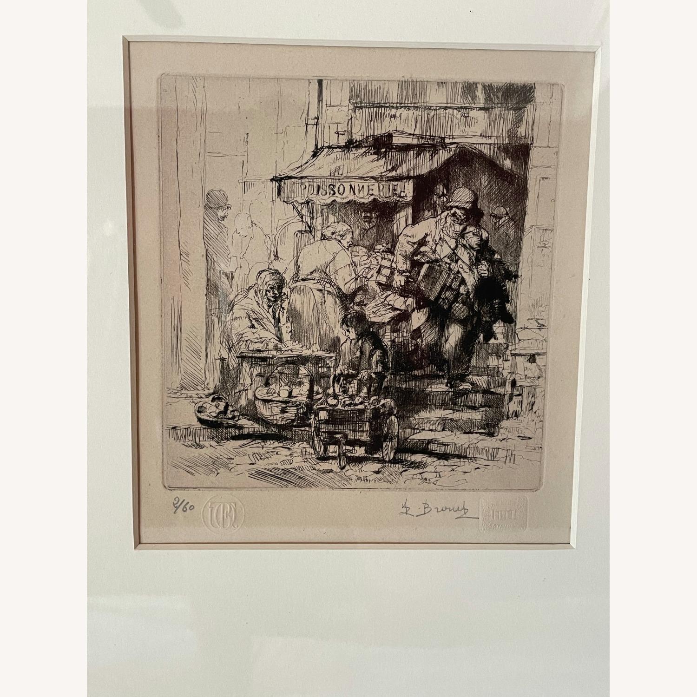 Auguste Brouet La Poissonnerie 1925 Etching - image-7