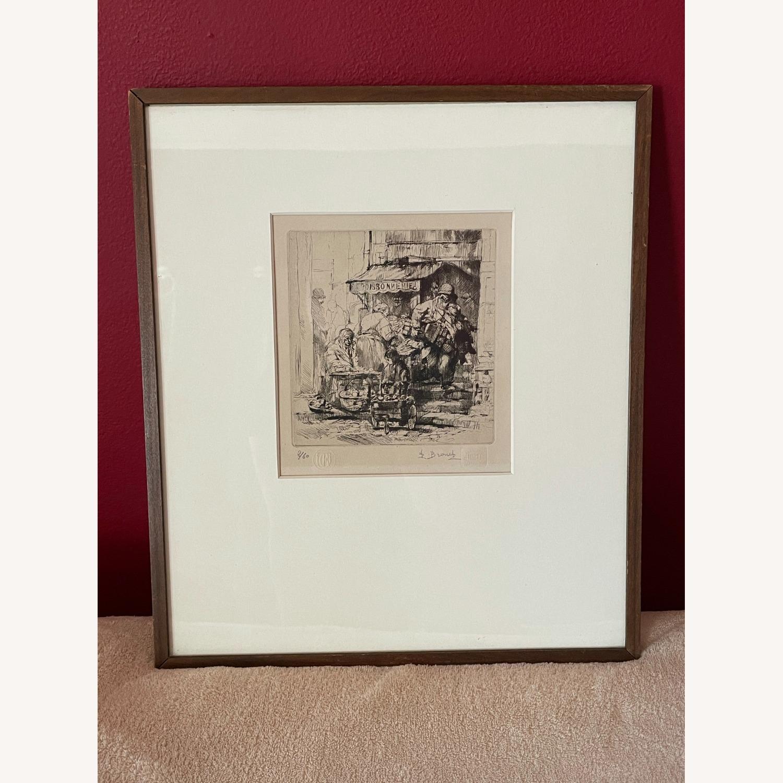 Auguste Brouet La Poissonnerie 1925 Etching - image-8