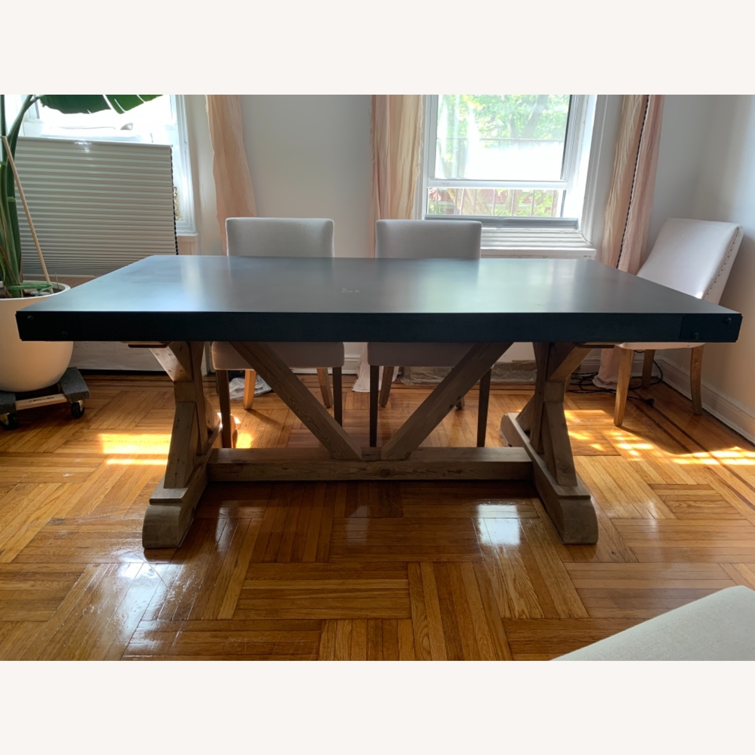 Restoration Hardware Salvaged Wood and Concrete Dining Table - image-9