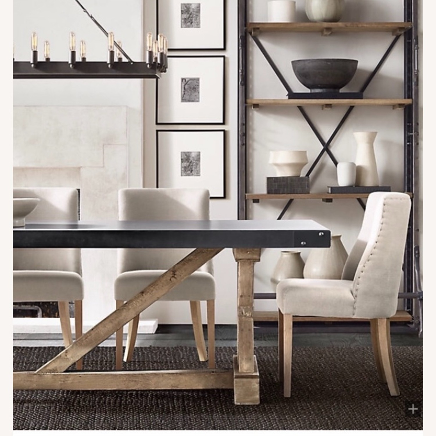 Restoration Hardware Salvaged Wood and Concrete Dining Table - image-0