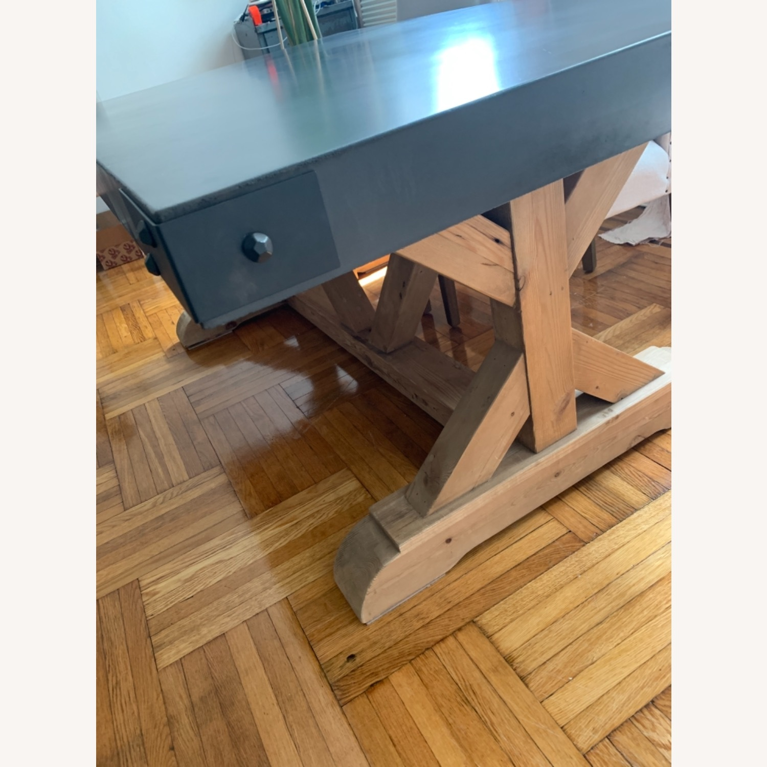 Restoration Hardware Salvaged Wood and Concrete Dining Table - image-28