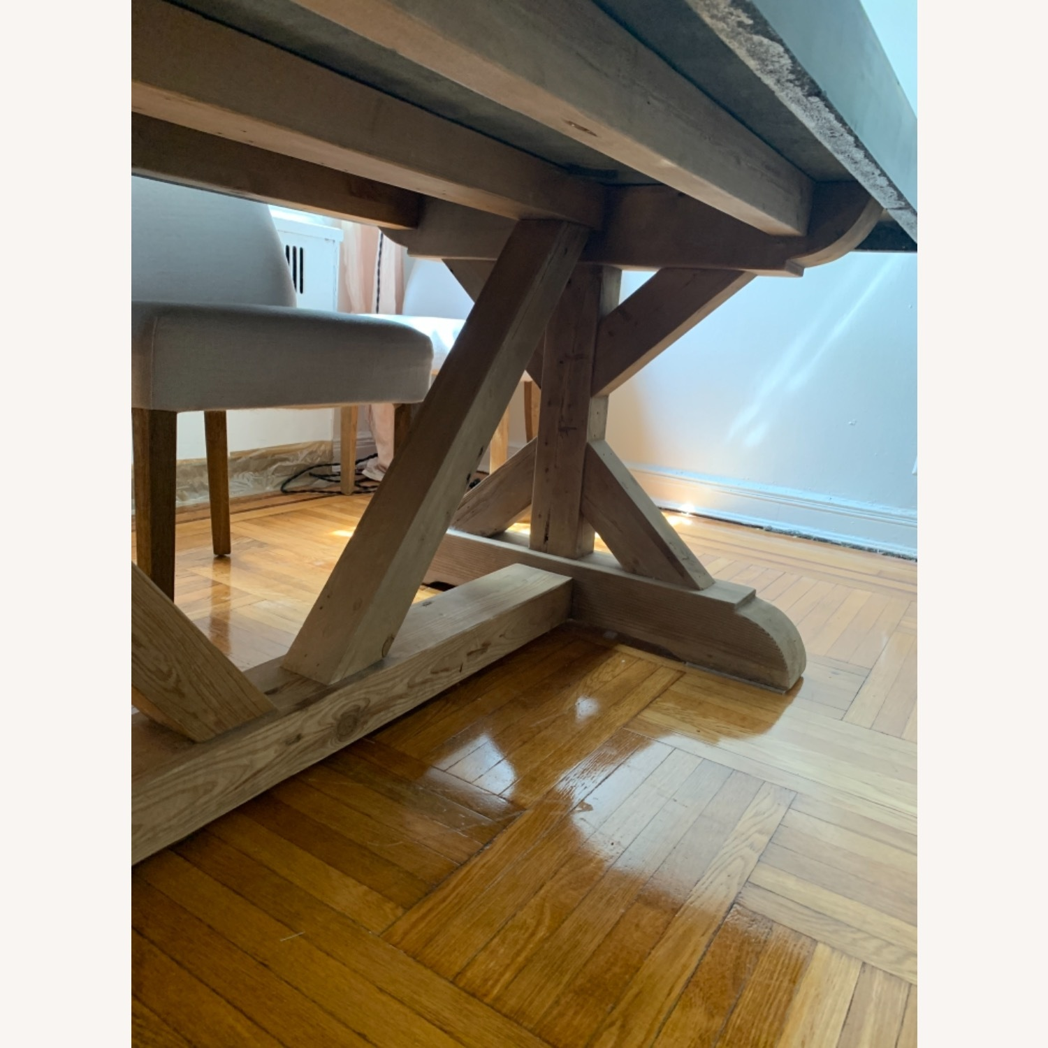 Restoration Hardware Salvaged Wood and Concrete Dining Table - image-29