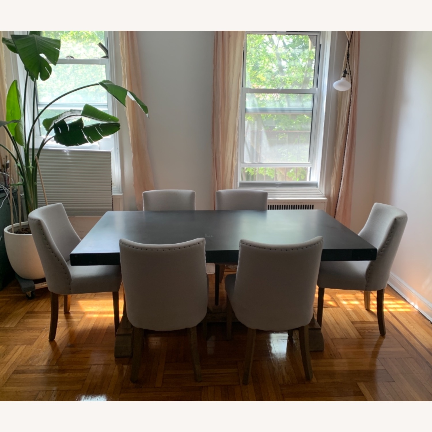 Restoration Hardware Salvaged Wood and Concrete Dining Table - image-1