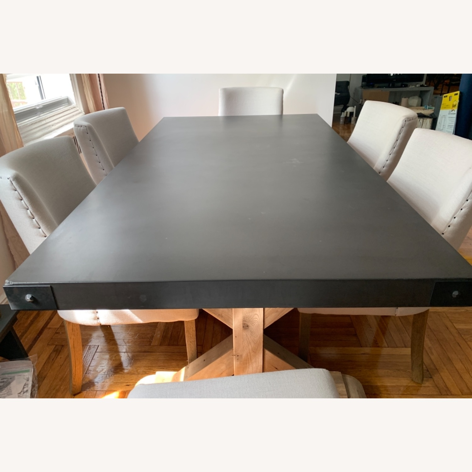 Restoration Hardware Salvaged Wood and Concrete Dining Table - image-5