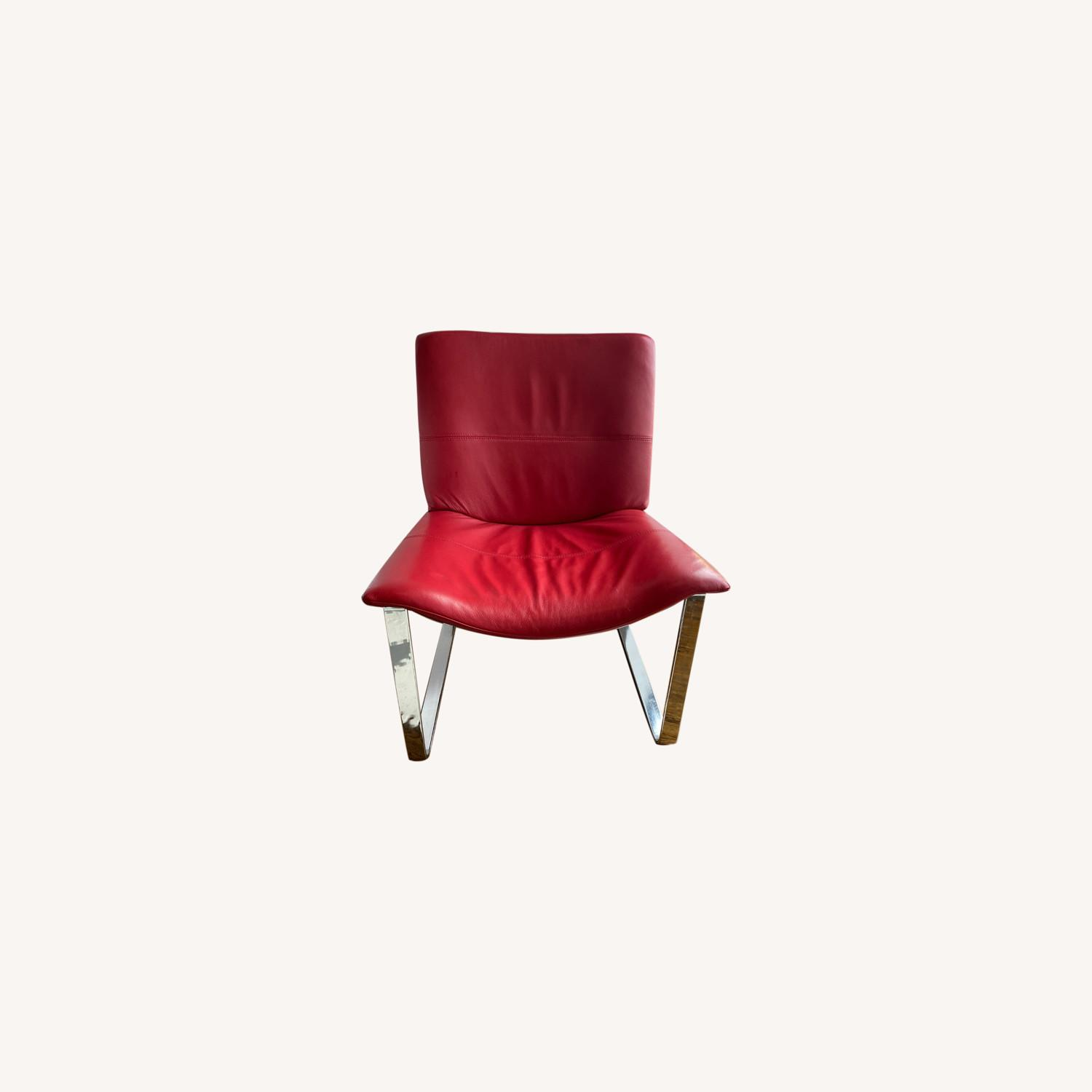 BoConcept Modern Leather Chair Red - image-0